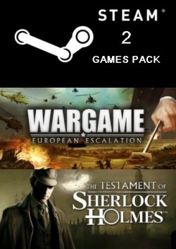 STEAM 2-Games PACK:(Wargame: European Escalation,The Testament of Sherlock Holmes)